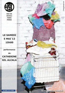 "Affiche performance ""Déréliction de l'art"" de Catherine Gil Alcala au 59 Rivoli"